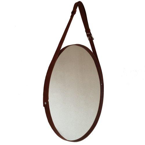mooie spiegel van leer zijkant links